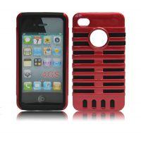 新款上市苹果iphone4S手机保护套二合一麦克风PC硅胶 手机保护壳