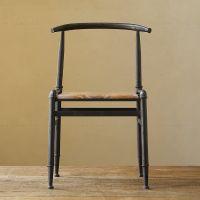 美式乡村铁艺做旧椅子办公椅餐椅工业水管接头桌椅吧台椅