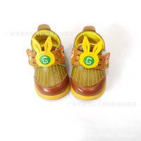 新款时尚流行男女小童学步皮鞋拼接彩色韩版卡通兔头童皮鞋C1
