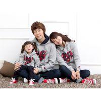 广东产地韩版2014淘宝热销 条纹亲子装 家庭装 情侣装 一件代发