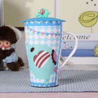 可爱忧伤马戏团薄荷大象 大容量陶瓷杯马克杯星巴克水杯带盖