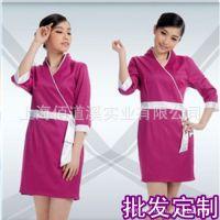 制服加工厂专业生产定制美容服时尚春夏美容师连衣裙订做美容服装