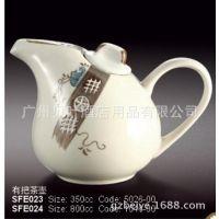 日韩式风格陶瓷餐具 有把小茶壶 酒店酒楼餐厅料理餐具用品批发