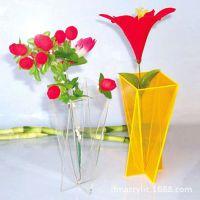 厂家直销有机玻璃花瓶 亚克力小型可爱创意花瓶