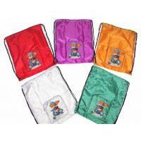 折叠环保袋束口袋 便携收纳拉链购物袋 防水涤纶背包抽绳袋定制
