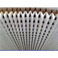 V type Overspary collector kraft pleated paper filter