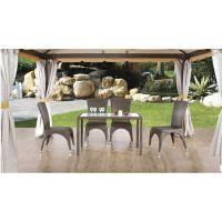 供应MT-A006仿藤餐桌椅—户外家具、户外藤椅、家具厂