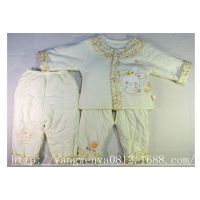 花边棉套同诚三件套卡通 新款婴幼儿童女孩绣花薄 可爱咪兔棉袄童