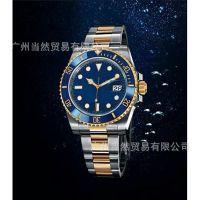 新款瑞士手表男 速卖通热销商务男士手表 单历合金带防水机械表