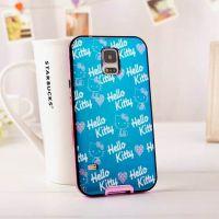 三星I9600潮牌蓝光手机壳 S5保护套  kitty猫卡通手机套电镀边