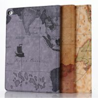 新款 iPad6 AIR2皮套 世界地图纹平板保护套 iPad6保护套