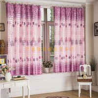 新款客厅卧室阳台飘窗半遮光短窗帘布料2.1米印花布厂家直销批发