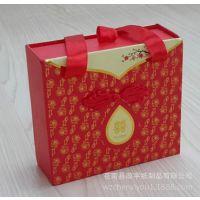 单色空白纯色印花婚庆抽屉式喜糖礼品盒 糖烟礼盒手提纸盒