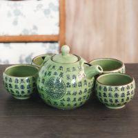 批发茶具套件 高档陶瓷茶具五件套 中国风餐厅用品一件代发