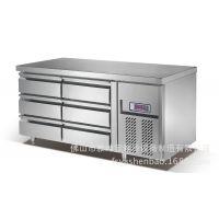 广州酒店用品城冷柜冰箱供货商 西餐厅连锁厨房抽屉冷柜 冰箱款式