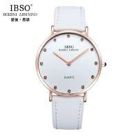 IBSO/爱彼思诺 2203 瑞士品质男士手表防水真皮带石英手表男女表
