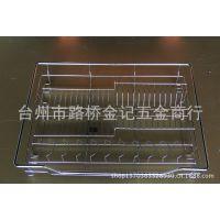 供应可调不锈钢圆管德式橱柜拉篮 抽屉篮配台湾进口火车头滑轨