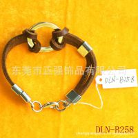 供应皮革手链 镶钻手链生产厂家 不锈钢手链批发 批发优惠