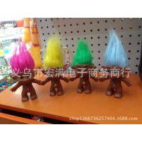 厂家直销 PVC小矮人毛发公仔 逼真玩具 搪胶玩具
