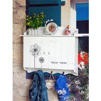 创意木质蒲公英图案电表箱 带挂钩遮挡箱 壁挂式时尚家居电表箱