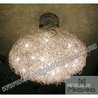 供应古镇特色铝线灯|各种编织灯批发|广东灯具灯饰协会单位|MX2035-20