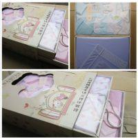 3色可选,四季含抱被大抽屉式双层婴儿礼盒,新生儿礼盒9件套6021