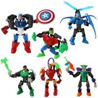复仇者联盟英雄益智 拼装二合一 变形金刚机器人 玩具模型件代发