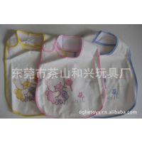 定做婴儿围兜口水巾 柔软毛巾布口水巾