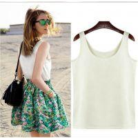 欧美夏季新款纯色背心碎花 短裙两件套连衣裙套装裙
