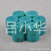 批发绿松石散珠 隔珠 圆珠 老湖北西藏绿松石散珠 勒子手串链挂件