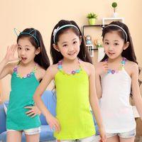 女童装2014夏季新款公主无袖打底衫吊带衫韩版儿童工字背心T恤