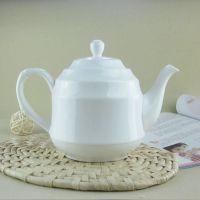 酒店陶瓷餐具茶具 中西自助餐骨瓷茶水壶大容量茶壶定制logo印字