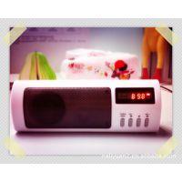 迷你音响插卡音箱FM自动选台带频率显示收音机