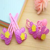 韩国小花百货 长期供应点点亚克力产品 迷你兔子皮筋 对夹 紫色
