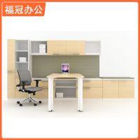 热销推荐 组合多功能办公桌 木质时尚书架办公桌