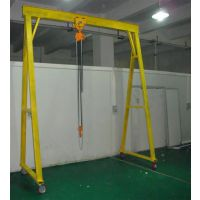 云浮电动龙门吊架、1吨电动龙门吊架型号、车间移动龙门吊架尺寸、富新源