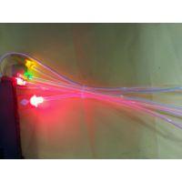 苹果三星小米V8发光 透明管一出三发光线 加长发光线 荧光线