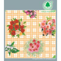 新乐华宝 厂家供应新型仿PVC复合台布 加厚印花餐桌布