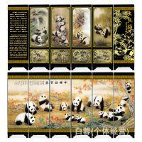 仿古漆器小屏风 中华国宝图 厂家直销外事 商务摆件 会议纪念品