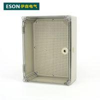 伊森防水配电箱 400*300*160 塑料密封箱 阻燃 ABS 透明盖 防尘箱