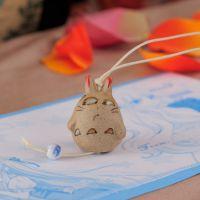 景德镇创意陶瓷 小商品 陶瓷挂件 可爱风铃 陶泥小龙猫风铃挂件