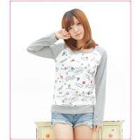 T2013秋季新款 rough art动物脸谱奥特曼打底衫 圆领长袖女装T恤