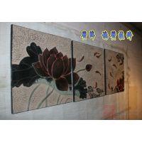 荷花装饰挂件 现代中式树脂墙壁装饰客餐厅走廊挂件浮雕 家居饰品