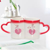 情侣变色杯来图定制创意DIY节日礼品杯子定做照片婚礼纪念陶瓷杯