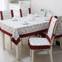 餐桌布/椅垫/椅套/布艺台布茶几布/方桌布套装田园 ZAKKA 田园屋