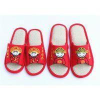 笨笨猪亚麻拖鞋,喜庆亚麻拖鞋。可爱情侣亚麻拖鞋,防滑保暖拖鞋