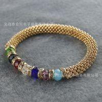 外贸批发 2014新款异域情调串珠手链 多彩的珠珠链 串珠手链
