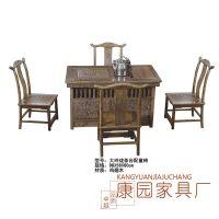 厂家直销大玲珑茶台配童椅 红木茶几 鸡翅木茶桌 中式休闲家具