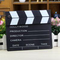 小号加厚场记板导演板 木质小黑板留言板文艺拍摄道具电影拍板