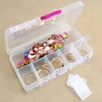 家居日用多格透明储物盒收纳盒 首饰盒 整理盒 安全药盒